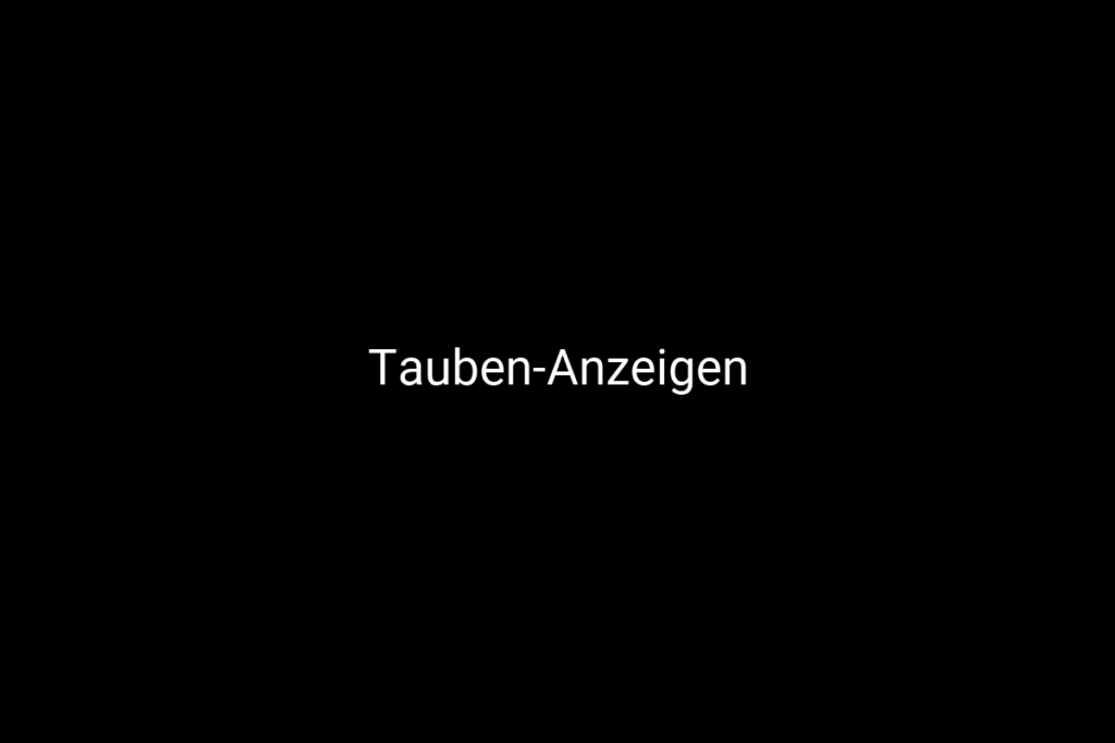 Tauben-Anzeigen