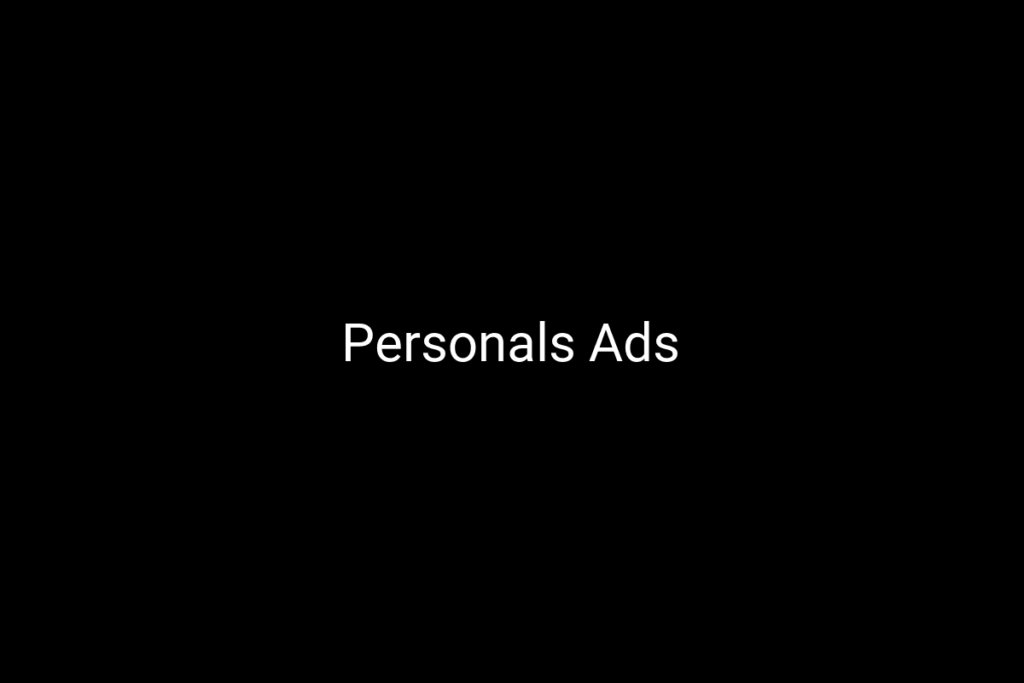 Personals Ads
