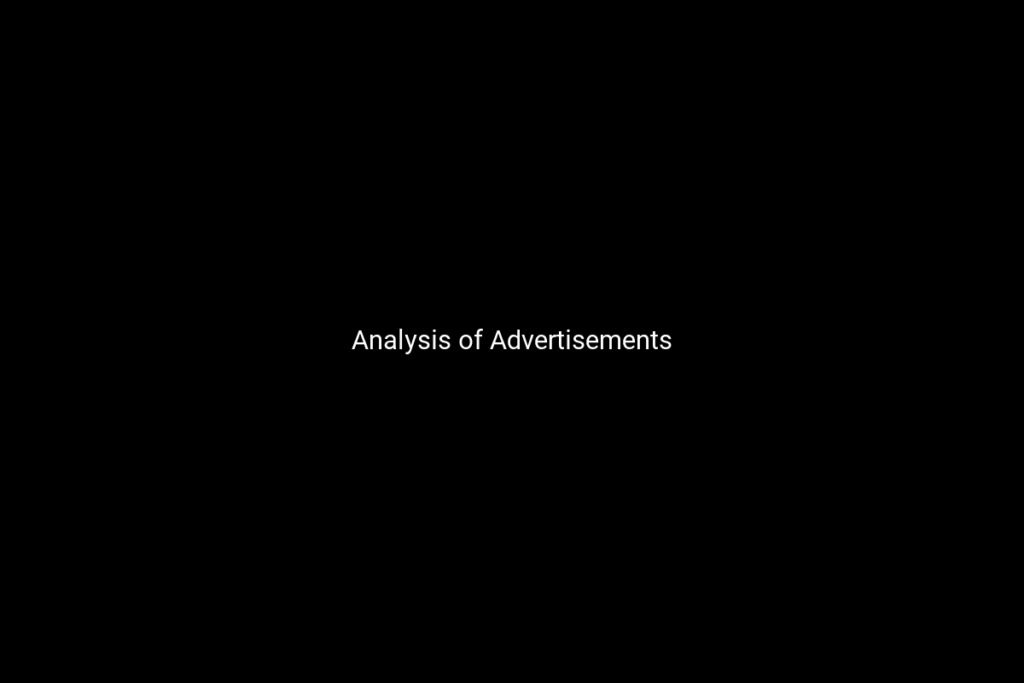 Analysis of Advertisements