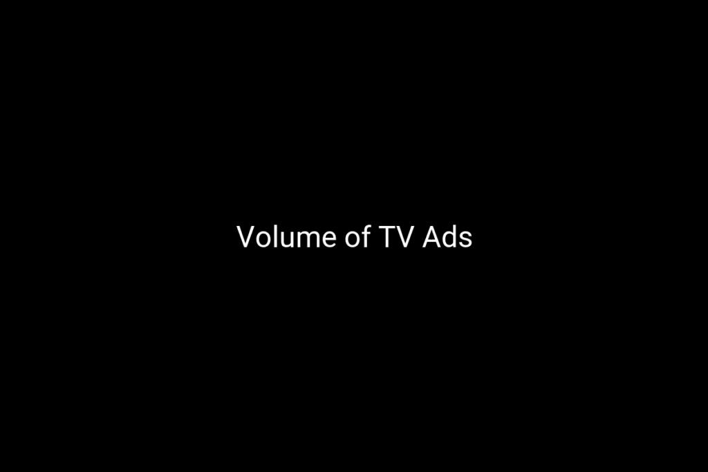 Volume of TV Ads