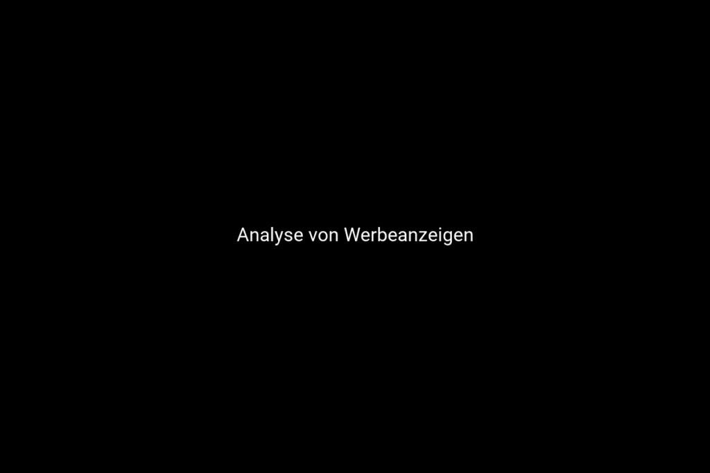 Analyse von Werbeanzeigen