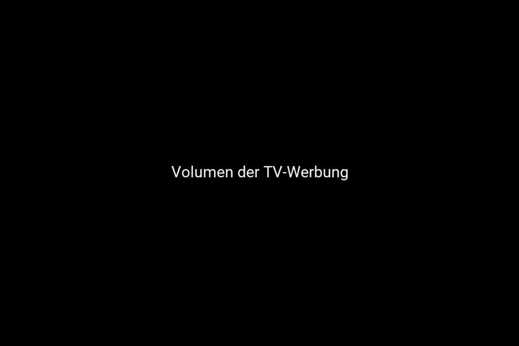 Volumen der TV-Werbung