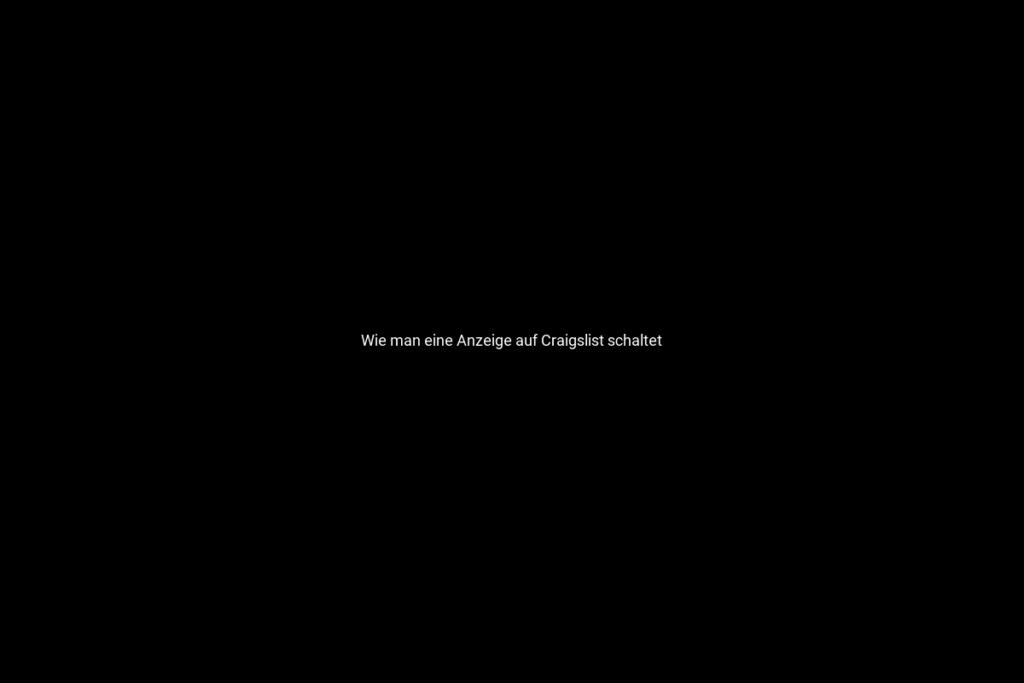 Wie man eine Anzeige auf Craigslist schaltet